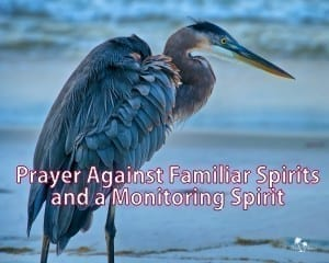 Prayer against a Familiar Spirit and Monitoring Spirits -