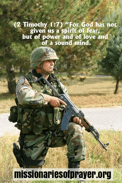 Soldiers Prayer And Bible Verses