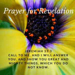 Jeremiah 33:3 Prayer for Revelation of Hidden Things -