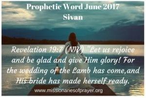 Prophetic Word June 2017 Sivan